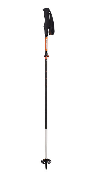 Komperdell Carbon Expedition Tour 4 Compact wandelstok oranje/zwart